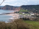 Walking to Sidmouth via cliff path